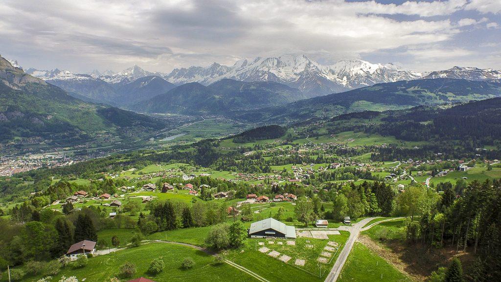 Mont-Blanc vu de Cordon (Haute-Savoie)